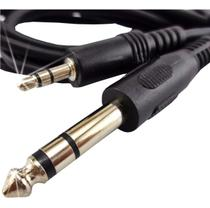 Cabo Adaptador Audio Auxiliar P2 para P10 Stereo 3 Metros - B-Max