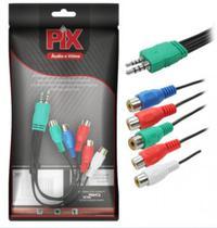 Cabo Adaptador AV Componente TV Samsung LED - 20CM - PIX -