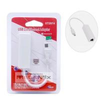 Cabo Adaptador Ethernet V8 micro USB- Xtrad -