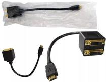 Cabo adaptador hdmi macho x 2 dvi 24+1 femea cb0159 global
