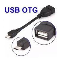 Cabo Adaptador OTG Leitor Pen Drive para Celular Tablet Trasforma Saída V8 para USB - Cabootg