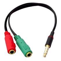 Cabo Adaptador P3 (p2 Combo) Fone E Microfone Headset - 2 P2 Femea x P3 macho - OK