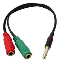 Cabo Adaptador P3(p2 Combo)p/ Fone E Microfone Headset Preto - Xtrad -