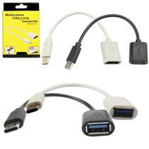 Cabo Adaptador Tipo C x OTG USB Para Celular E Tablet - Prospecta