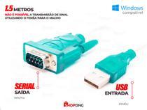 Cabo Adaptador USB 2.0 Serial Conversor RS232 DB 9 Pinos - Shopdng