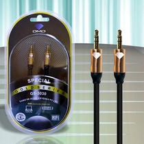 Cabo Áudio P2 Stereo com Puro Cobre Com 3,00 Metros - Diamond