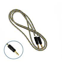 Cabo Auxiliar Super Reforçado Conector P2 + P2 Estério 1 Metro - Amarelo  - Inova -
