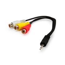 Cabo AV  3 RCA - Áudio e Vídeo Com P2 - TV LED Samsung - Outras