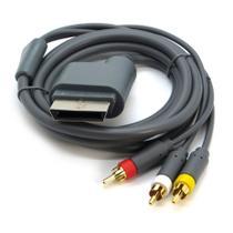 Cabo Av Rca Áudio Vídeo Com 2,5 Metros Compatível c/ Xbox 360 Slim - T&Z