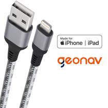 Cabo carregador iPhone Lightning reforçado - original MFI Geonav -