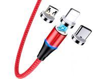 Cabo Carregador Magnético 3 Em 1 Para Micro Usb V8 Type C Android Ou iPhone - Inova