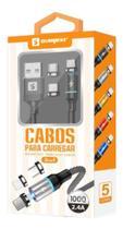 Cabo Carregador Magnético 3 Em 1 Usb Android E iPhone - Mcmc