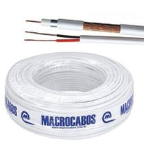 Cabo coaxial rf 4mm bipolar flex 100mt macrocabos -