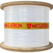 Cabo coaxial RG59 branco--  67% malha -- bobina c/ 300 metros - Megatron