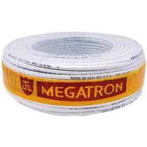 Cabo coaxial RG59 branco--  malha de 67% -- rolo c/ 100 metros -- MEGATRON -