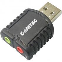 Cabo Conversor USB 2.0 para Áudio Estéreo Preto - Comtac - Comtac -