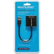 Cabo Conversor USB 3.0 para VGA Multilaser WI348 23cm -