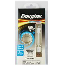 Cabo De Dados Iphone 5-6 Branco - 8Cm Energizer -