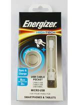 Cabo De Dados Micro Usb Branco - 8 Cm Energizer -