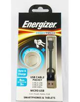 Cabo De Dados Micro Usb Preto - 8 Cm Energizer -