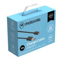 Cabo De Dados Motorola Original Usb-A Para Micro Usb De 1 Metro - Preto -