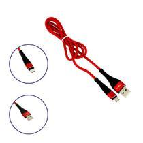 Cabo De Dados Reforçado USB Micro USB Tipo V8 Vermelho CBO-8323 - Inova -