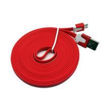 Cabo de Dados USB para V8 FLAT 2 Metros Vermelho Compativel - Ukimix
