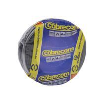 Cabo de Energia 750v 2,5mm² Flexicom Antichama com 50 Metros Preto - Cobrecom