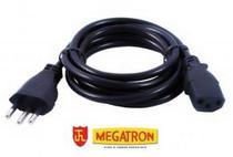 Cabo de Força Tripolar 2P+T 10A 3x075mm - 1,8 Metros - Megatron -