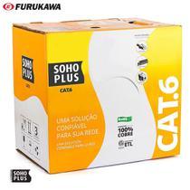 Cabo de Rede Cat6 Soho Plus Furukawa Azul 100 m + 10 Rj45 Cat6 Furukawa Gigalan -