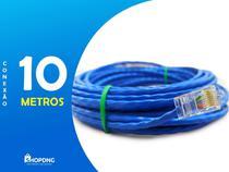 Cabo De Rede Internet Profissional Azul 10 Metros C/ Conector - SHOPDNG
