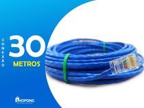Cabo De Rede Internet Profissional Azul 30 Metros C/ Conector - Shopdng