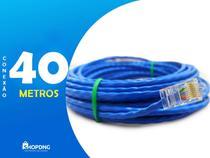 Cabo De Rede Internet Profissional Azul 40 Metros C/ Conector - Shopdng