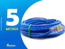 Cabo De Rede Internet Profissional Azul 5 Metros C/ Conector - Shopdng