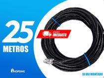Cabo De Rede Internet Profissional PRETO 25 Metros Crimpado - Shopdng
