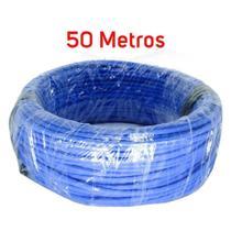 Cabo de Rede Lan 4 Pares (8 Vias) Rolo 50 Metros - Azul - Multitoc