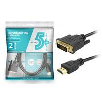 CABO DVI 24+1 x HDMI MACHO 2M PRETO 018-8702 CHIPSCE -