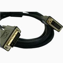 Cabo DVI-D para DVI-D, robusto,  conector dourado, 2 metros - Webstore