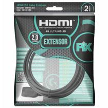 Cabo extensor hdmi(m) x hdmi(f) 2.0 (2m) 0189420 / un / pix -