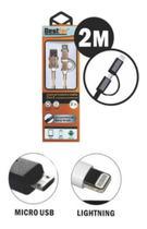 Cabo Extensor Usb 2 Metros Carga E Dados Micro Usb Ligthning - Bestfer
