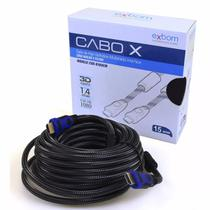 Cabo Hdmi 1.4 15 Metros 15m Full Hd 1080p Lcd Ps3 Xbox Tv 3d - Exbom