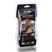 Cabo HDMI 1.4 Premium Elgin 4K 3D Conector Banhado a Ouro 2M -