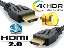 Cabo HDMI 10 metros 2.0 4K ULTRA HD 3D filtro pino dourado - Mastertel