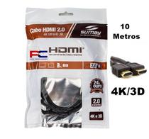 Cabo HDMI 10 Metros 4k Ultra HD Sumay - SM-HDMI 100s Hdm -