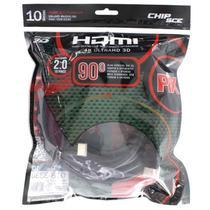 Cabo HDMI 2.0 90 4K Ultra HD 3D Chip Sce  19 pinos  10 metros -