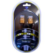 Cabo Hdmi 2.0 Dmd Diamond Cable Gs 3020 3d 4k Hdr 1,8m -