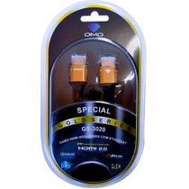 Cabo HDMI 2.0 High Speed com Ethernet 18Gbps 4K ARC Com 1,80 Metros - Diamond