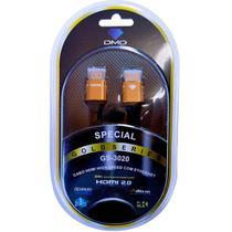 Cabo HDMI 2.0 High Speed com Ethernet 18Gbps 4K ARC Com 3,60 Metros - Diamond