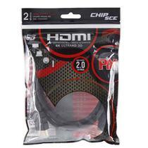 Cabo HDMI 2 Metros 2.0 4K ULTRA HD 3D 19 Pinos CHIP SCE 018-2222 -