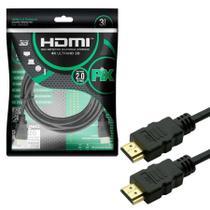 Cabo HDMI 3 Metros 2.0 4K ULTRA HD 3D 19 Pinos Pix 018-2223 -